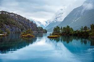 Lovatnet, Lake, Beautiful, Nature, Norway, Stock, Image