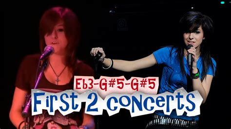 grimmie 1st two concerts vocal range