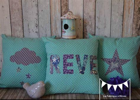 coussin chambre fille 3 housses coussins turquoise violet blanc bleu étoiles