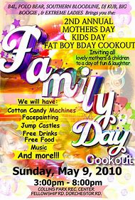 Family And Friends Day Flyer Template