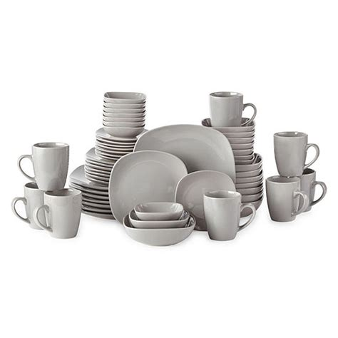 jcpenney home  pc gray dinnerware set color steeple