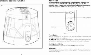 Ultrasonic Cool Mist Humidifier Instructions