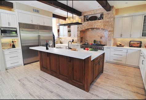 raised kitchen island raised kitchen island kitchen rustic with cabinet front refrigerator whistling tea kettles