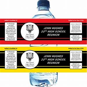 reunion party water bottle label With class reunion water bottle labels