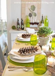 Modern Country Table Setting - Town & Country Living