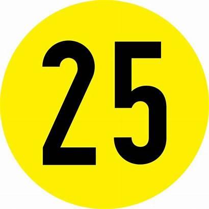 Number Clipart Clip Twenty Five 26 Circle