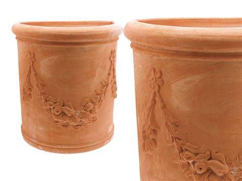 vaso terracotta prezzo semicircolare alto festonato toscano 001 vaso in terracotta