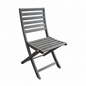 Chaise De Jardin Grise : chaises de jardin pliantes en acacia gris lot de 2 silverwood decoclico ~ Teatrodelosmanantiales.com Idées de Décoration