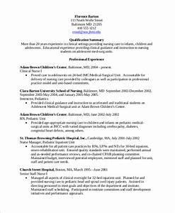 10 sample nursing resumes sample templates With experienced nurse resume