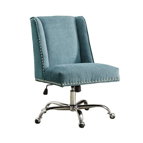 Black Outdoor Chair by Armless Upholstered Office Chair In Aqua 178404aqua01u