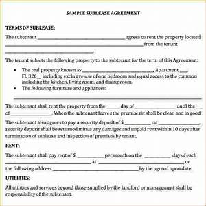 commercial sublease agreement template sublet contract With commercial sublease agreement template download