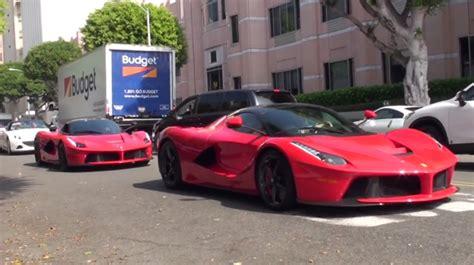 Video: Two LaFerraris Filmed in Beverly Hills! - GTspirit