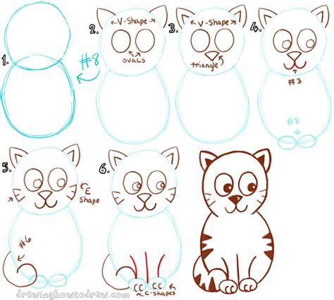 big guide  drawing cartoon cats  basic shapes