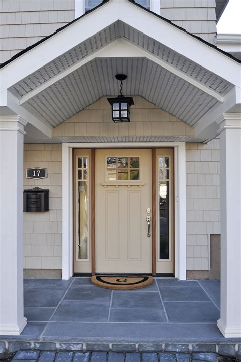 Front Door Porch by New Shed Roof Extension W Portico Front Door