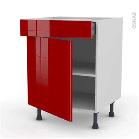 tiroir meuble cuisine meuble de cuisine bas stecia 1 porte 1 tiroir l60 x