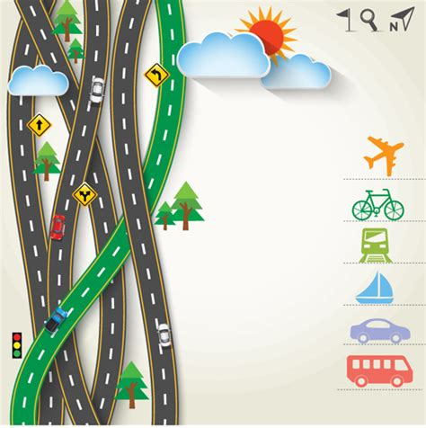 road traffic schematic vector template  vector traffic