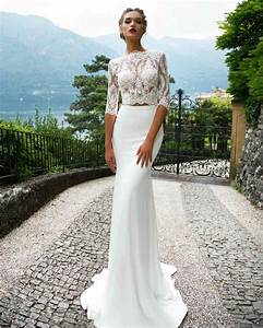 milla nova 2017 wedding dresses two piece wedding dress With 2 piece wedding dresses