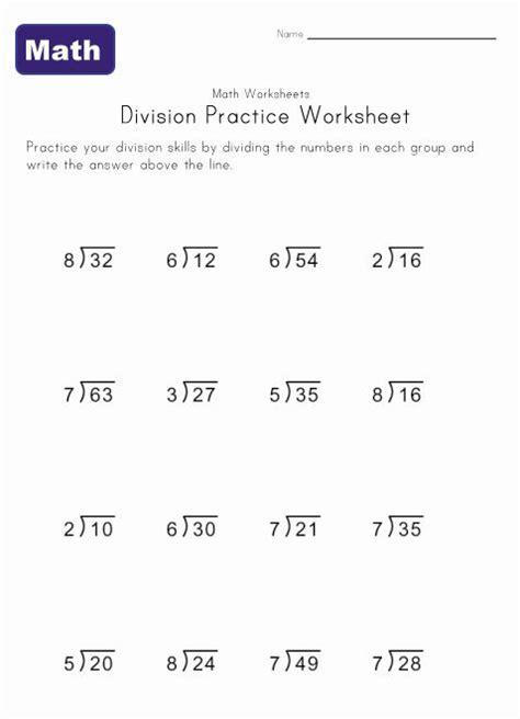 simple division worksheets math division math division