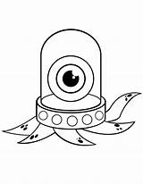 Coloring Monster Clipart Clip Eyed Panthers Carolina Octopus Library sketch template