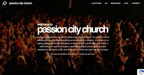 church website designs    examples