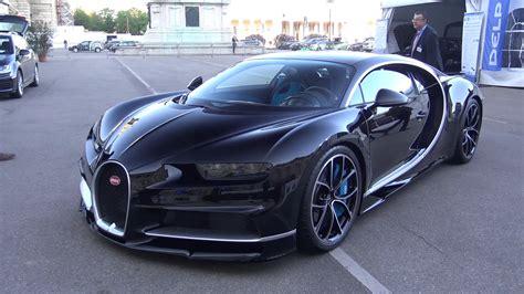 Bugatti All Black by Black Bugatti Chiron In Vienna Austria Front Three