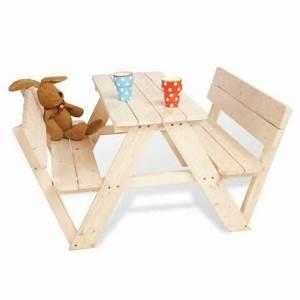 Table Picnic Bois Pas Cher : mobilier enfant ext rieur acheter sur ~ Melissatoandfro.com Idées de Décoration