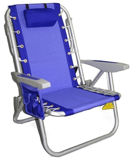 rio deluxe aluminum lay flat backpack chair w cooler new