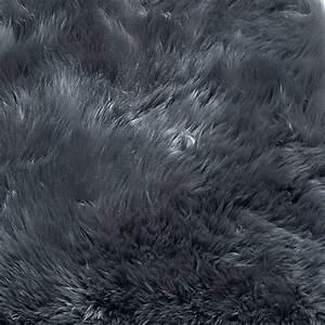 Peau De Mouton Veritable : tapis contemporain uni gris fonc en peau de mouton v ritable ~ Teatrodelosmanantiales.com Idées de Décoration