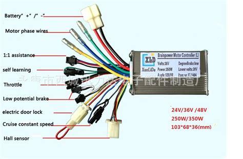36v Electric Scooter Controller Diagram by 24v 36v 48v 250w 350w Brushless 6 Mosfet Hub Motor