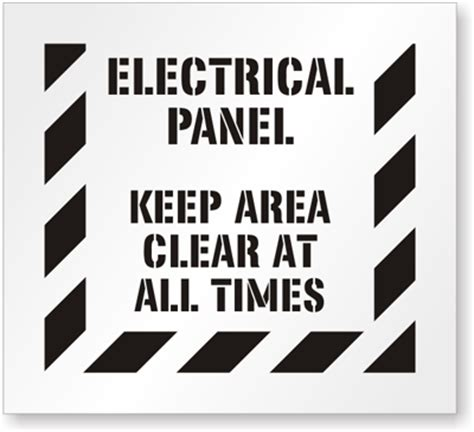 electrical panel signs electrical panel clear signs
