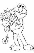 Free Printable Elmo Co...Elmo Birthday Coloring Pages