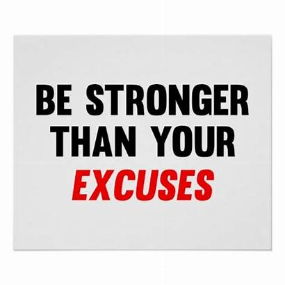 Stronger Excuses Than Poster Fitness Posters Motivation