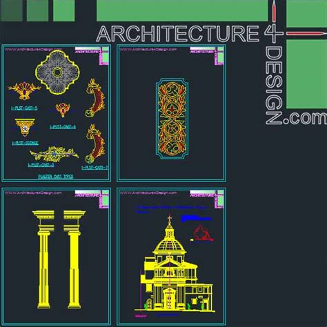 home design cad software classical architecture style facades parts for autocad