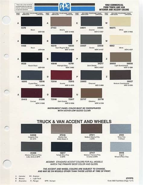 92 interior color options ford truck enthusiasts forums