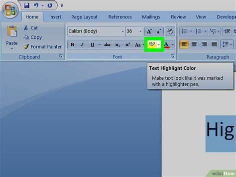Builder In Microsoft Word by W 246 Rter In Ms Word Markieren Wikihow