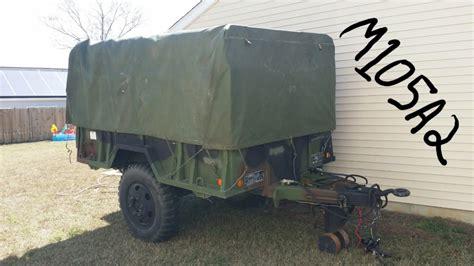 military trailer cer military cargo trailer m105a2 youtube