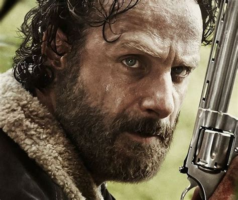 walking dead poster shows rick grimes  armed