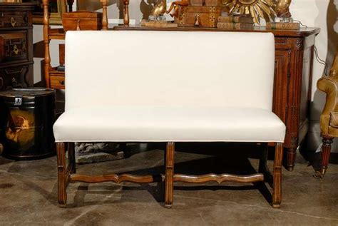 Settee Bench With Back by Upholstered Bench Settee With Back At 1stdibs