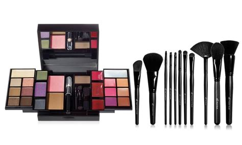 dual ended makeup brush e l f cosmetics makeup palette and brush set groupon