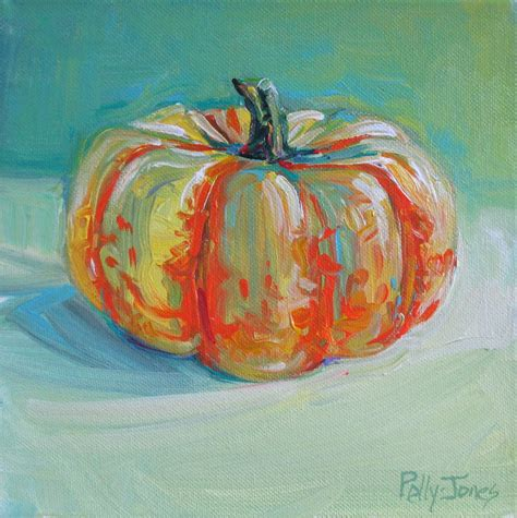 painting a pumpkin small wonders daily paintings by polly jones lazy day pumpkin original painting by polly jones