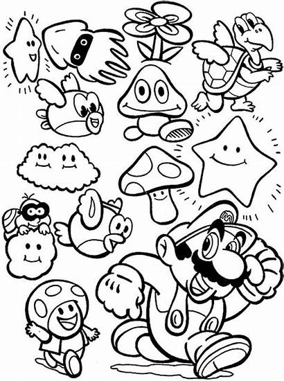 Coloring Mario Pages Character Popular Characters