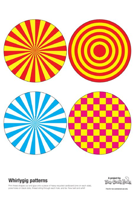 whirlygig patterns template printable