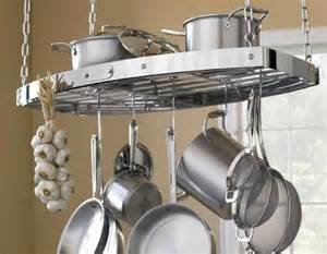 kitchen island with hanging pot rack materialology beautiful all clad oval hanging pot rack