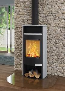 Cheminée Bois Design : magellan acier noir et habillage ollaire ou c ramique ~ Premium-room.com Idées de Décoration