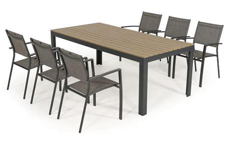 Table Salon De Jardin Salon De Jardin Table Bilbao 2m 6 Fauteuils Antalya Oogarden