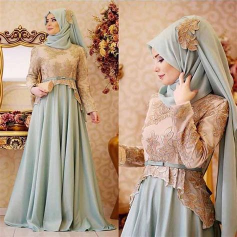 model dress kebaya modern muslim pesta terbaru
