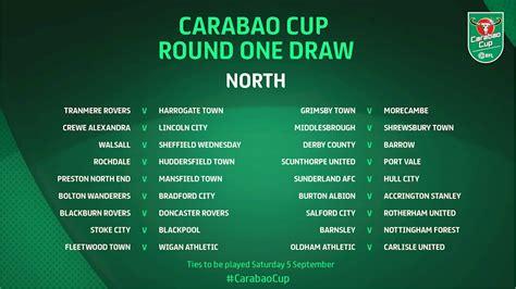 Carabao Cup Fixtures 2020/21 - Carabao Cup Round One Draw ...