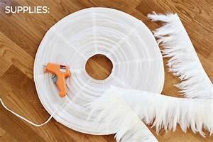 Lustre Boule Plume : diy la suspension plume plume initiales gg ~ Teatrodelosmanantiales.com Idées de Décoration