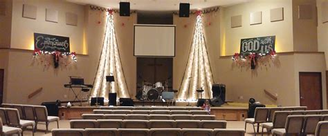 christmas chalk church stage design ideas