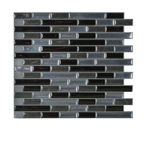 decorative wall tiles kitchen backsplash smart tiles muretto nero 10 20 in x 9 10 in peel and
